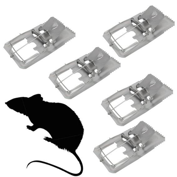 5 Ratoeiras Com Mola Em Aço Grande Para Rato E Ratazana
