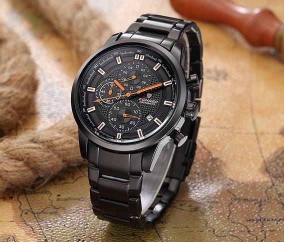 Relógio Masculino Quartzo Longbo Aço Original.