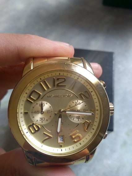 Relógio Michael Kors Ml5726 Mercer Dourado Ouro