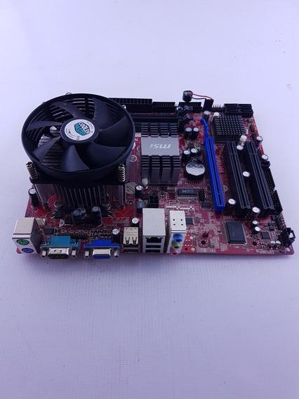Kit Placa Mae Msi + Processador Dual Core Funcionando