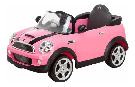 Mini Cooper Auto Bateria Rosa Nena 6v Biemme Control Padres