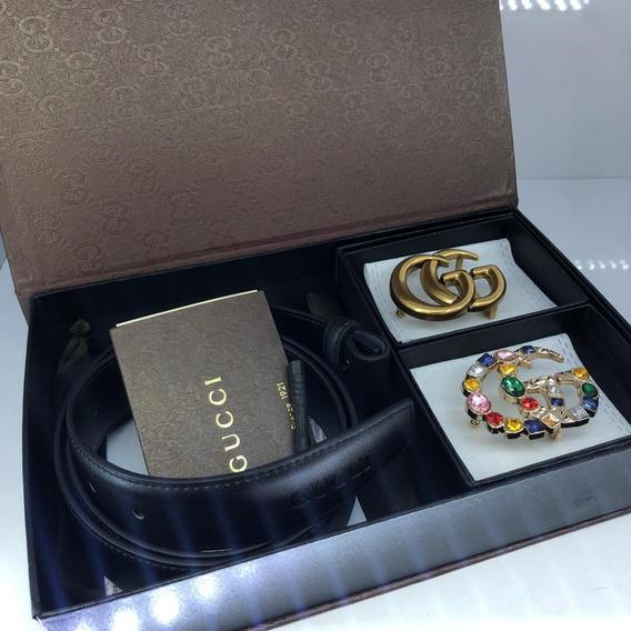 Cinturon Correa Doble Hebilla Gucci Mujer 30 % Dto Original