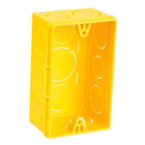 Caixinhas Para Tomada Amarela 4 X 2 100 Unidades