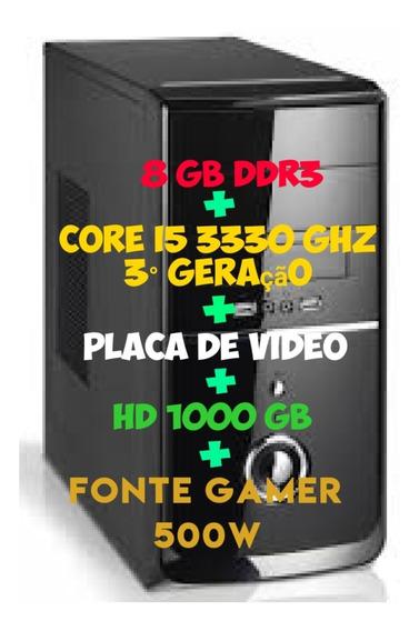 Cpu Gamer Core I5 3330 Ghz + 8 Gb Ddr3 + Placa De Video +...