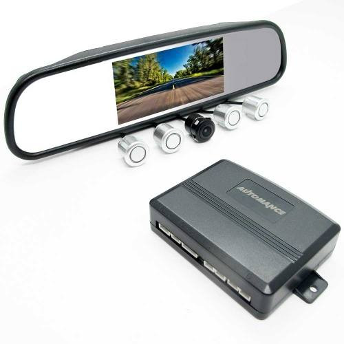 Kit Sensor Estacionamento + Retrovisor 4,3 + Cam. Re Sw2008