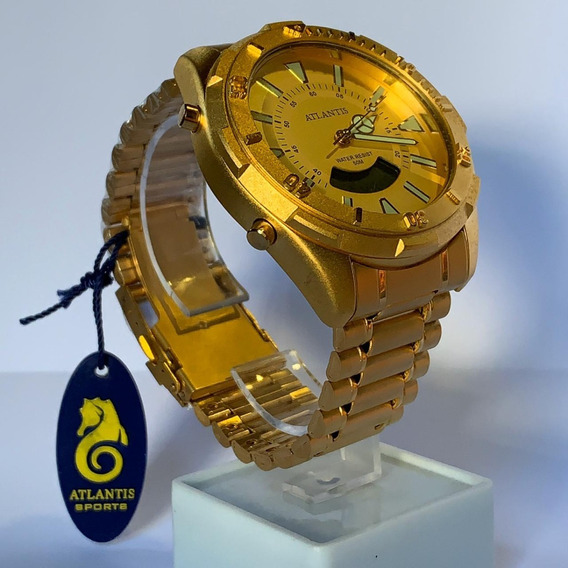 Relógio Atlantis Dourado A3482