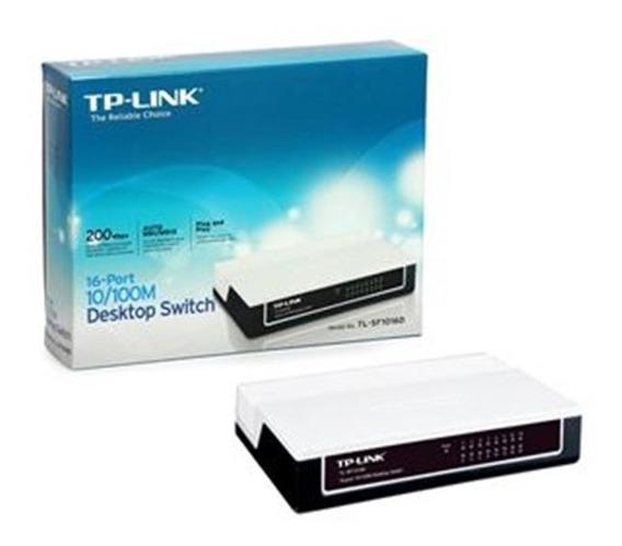 Tp-link Switch Não Gerenciável Tipo Desktop 16p Lan 10/100