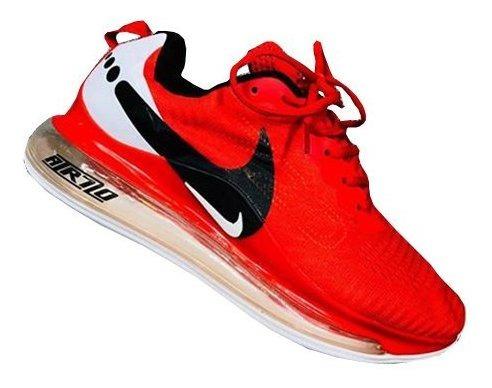 Tenis Nike Air Vapor Max Roja Hombre Zapatillas Importadas
