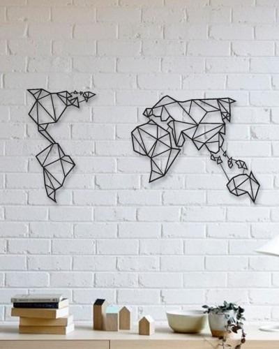 Quadro Decorativo Parede Mapas Mapa Mundi Minimalista 120c
