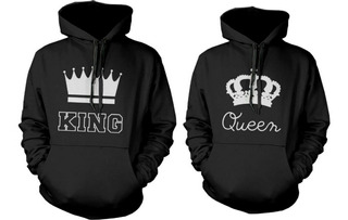 2 Polerones Parejas King Y Queen