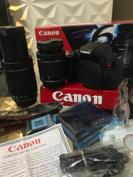 Canon T6i Kit Premium C/ 2 Lentes 18-55m+55-250m Stm Na Cx