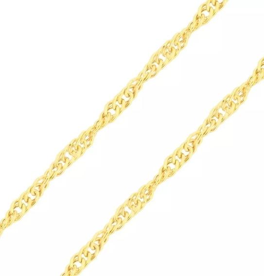 Gargantilha Ouro Puro 1.6 Gramas Feminina 48 Cm Cingapura