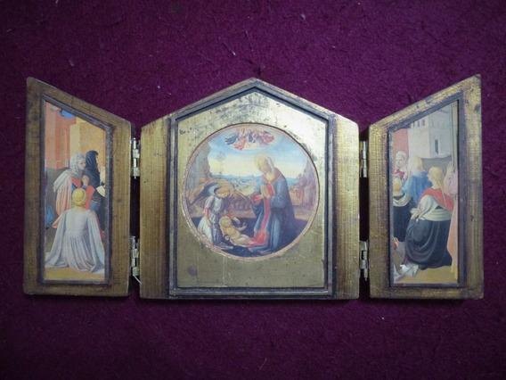 Retablo Tricono La Adoración Del Niño Domenico Ghirlandaio