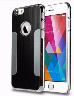 Kit 3 Capa Celular iPhone 6 Metal Preta Prata Rosa + Brinde