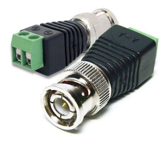 Conector Plug Bnc Macho Com Borne Para Cameras