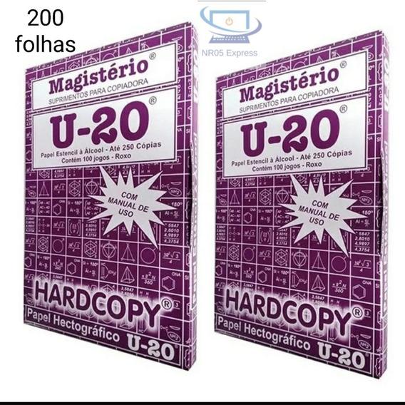 Kit 2 Caixas 200 Jg Papel Hectografico U-20 Hardcopy Tatoo
