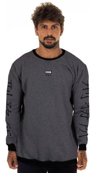 Moletom Prison Streetwear Cinza Urban Lançamento