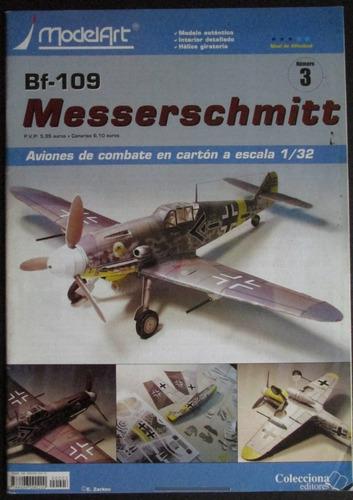 Imagen 1 de 10 de Avion Armable De Papel Bf-109 Messerschmitt Esc. 1/32