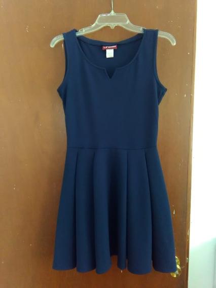 Vestido Marca Lineas Color Azul Talla 9 Usado
