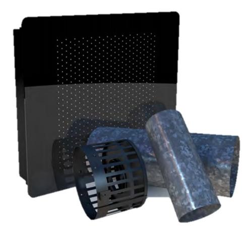 Estufa Calefactor Tiro Balanceado 5000 Kcal Con Frente De Vidrio Templado + Envio Gratis . Oferta