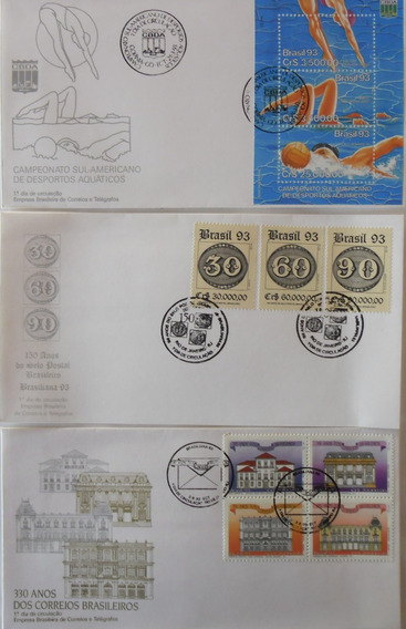 Envelopes Fdc 1993 - 15 Unidades Diferentes - Frete Grátis