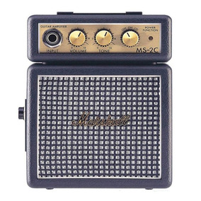 Mini Amplificador De Guitarra Marshall Ms-2c 127v Cinza Por