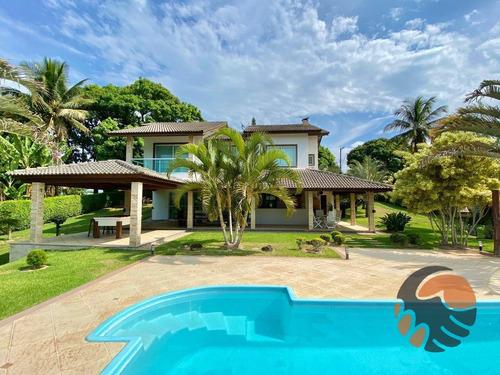 Casa Com 4 Suítes À Venda, 406 M² - Nova Guarapari - Guarapari/es - Ca0583