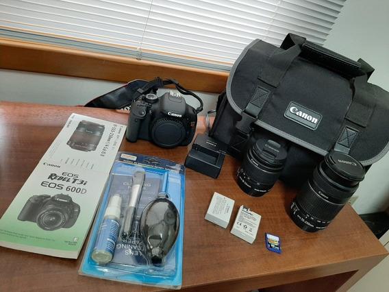 Câmera Canon T3i Com Lente 18-55mm, Lente 55-250mm