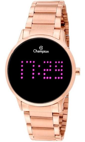 Relógio Led Champion Ch40035h Rosé