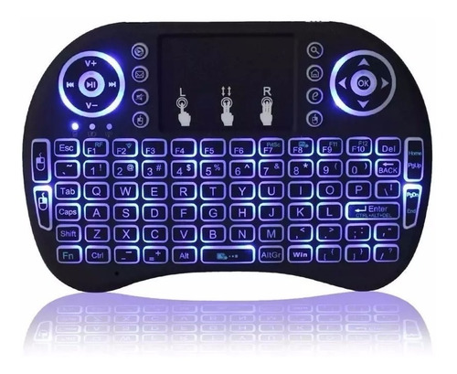 Mini Teclado Inalambrico Led Retroiluminado Smart Tv Android