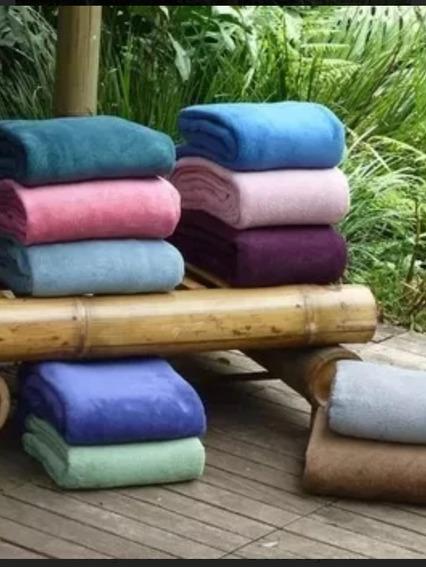 Cobertor Manta Casal Microfibra Lisa Lindas Cores