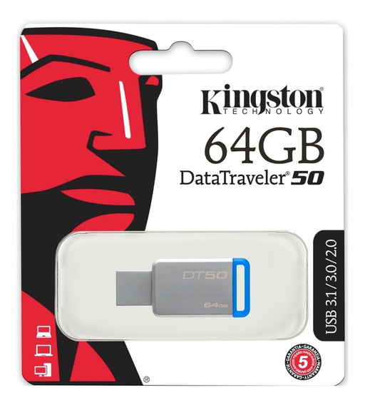 Pendrive Kingston Metalico 64gb Datatraveler50