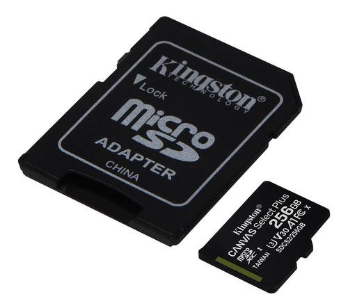 Imagen 1 de 6 de Memoria Microsd 256gb Kingston Clase 10 A1 100mb/s Micro Sd