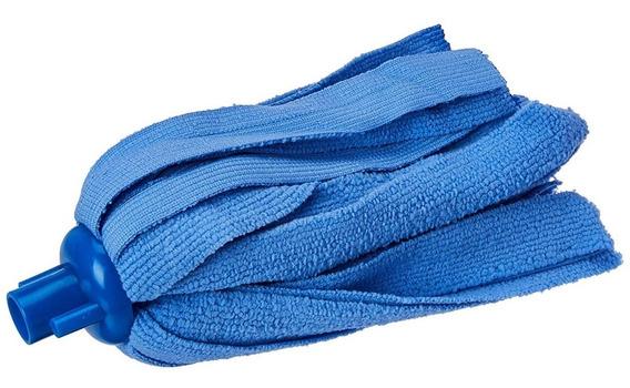 Refil Esfregão Para Limpeza Em Microfibra Azul - Prana