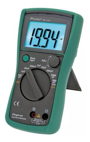 Imagen 1 de 5 de Tester Capacitancia Capacimetro Digital Proskit Capacitores