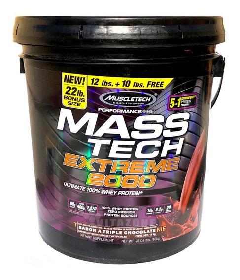 Proteína Mass Tech Extreme 2000 22 Lbs Chocolate Muscletech.