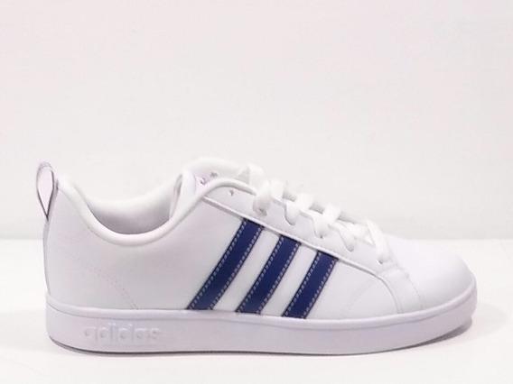 Tenis adidas Blancos Franjas Azules