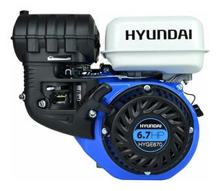 Motor A Gasolina Hyundai 4 Tiempos 6.7 Hp C/ Cuñero Hyge670