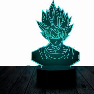 Lampara 3 D Led Goku Dragon Ball Rgb 7 Colores