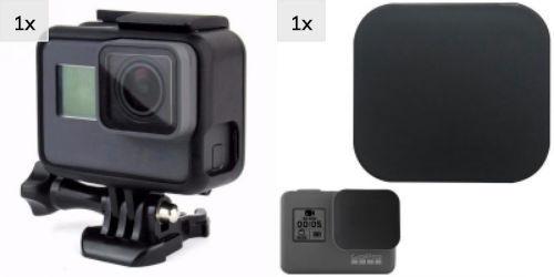 Kit Gopro Moldura Frame Proteção Cover Hero 5 6 7 Black Ação