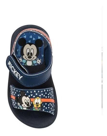 Sandália Papete Confortável Infantil Grendene Patrulha Canina / Mickey / Minnie Com Velcro