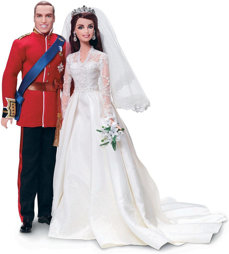 Barbie William Y Catherine (kate Middleton) Royal Wedding Co