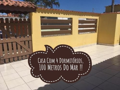 Casa Com 4 Dormitórios 100 Metros Do Mar Itanhaém Litoral Sp