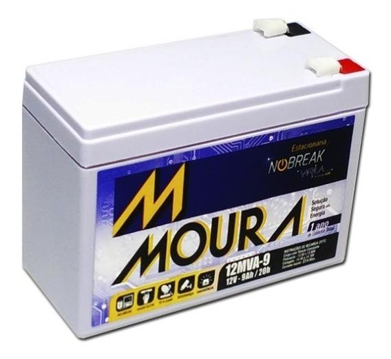 4 Baterias Moura 12v 9ah Bicicletas Scooter Elétricas