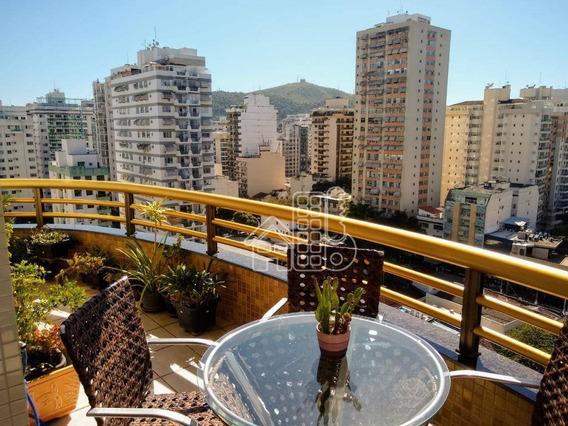 Apartamento Com 3 Dormitórios À Venda, 121 M² Por R$ 980.000,00 - Icaraí - Niterói/rj - Ap2831