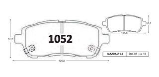 Pastillas De Freno Del Mazda 2 2007-2015 P1052 Gtx