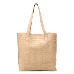 Bolsa Colcci Shopper Croco Tachas Feminina Bege Original