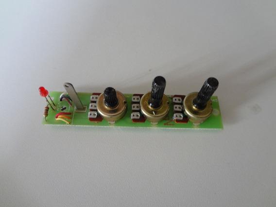 Placa Painel Com 3 Potenciômetros Osciloscópio Icel Os-2010