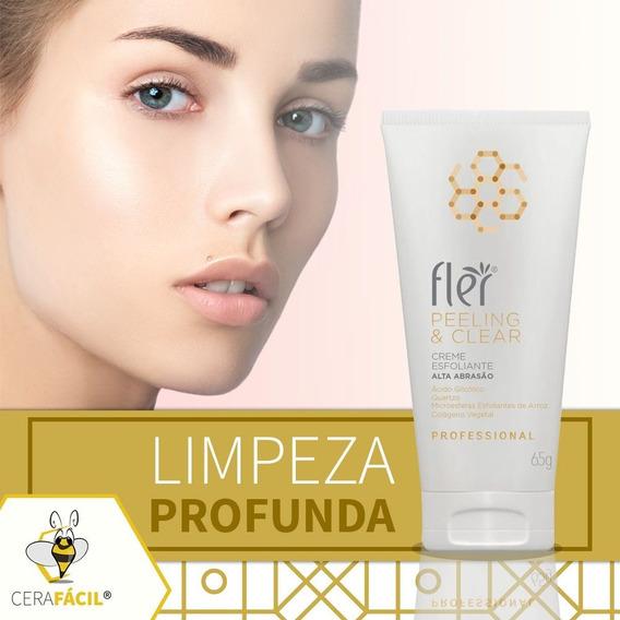 Creme Esfoliante Alta Abrasão Peeling E Clear 65g Flér