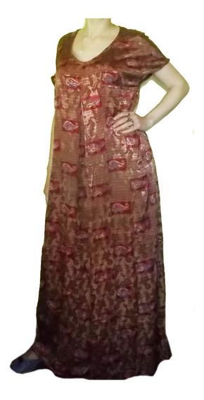 Vestido Hindú Seda Talles Especiales Importados India Xxl